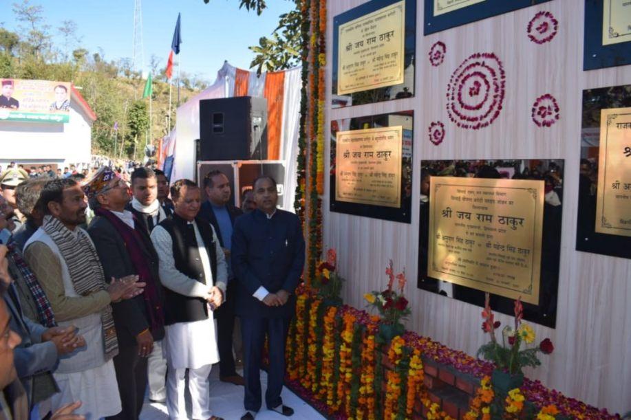 धर्मपुर क्षेत्र में 270 करोड़ की विकास परियोजनाएं समर्पित, बरोटी में ITI खोलने की घोषणा-CM