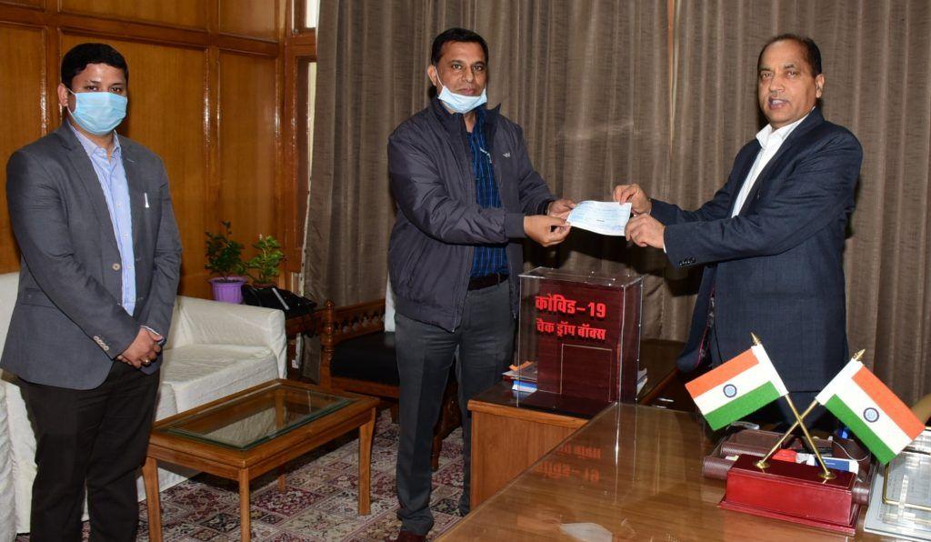हिमाचल प्रदेश राज्य प्रदूषण नियन्त्रण बोर्ड ने किया एक करोड़ रुपये का अंशदान