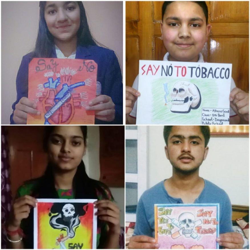 दयानन्द पब्लिक स्कूल  ने मनाया विश्व तंबाकू निषेध दिवस