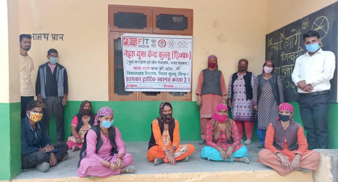निरमंड की खरगा पंचायत में चलाया गया भांग उखाड़ो एवं नशा मुक्त भारत अभियान