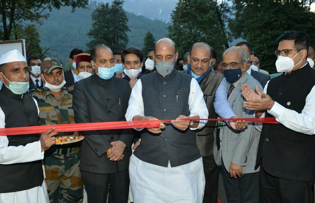 केंद्रीय रक्षा मंत्री राजनाथ सिंह ने सासे में कैलिब्रेशन लैब भवन का किया शिलान्यास