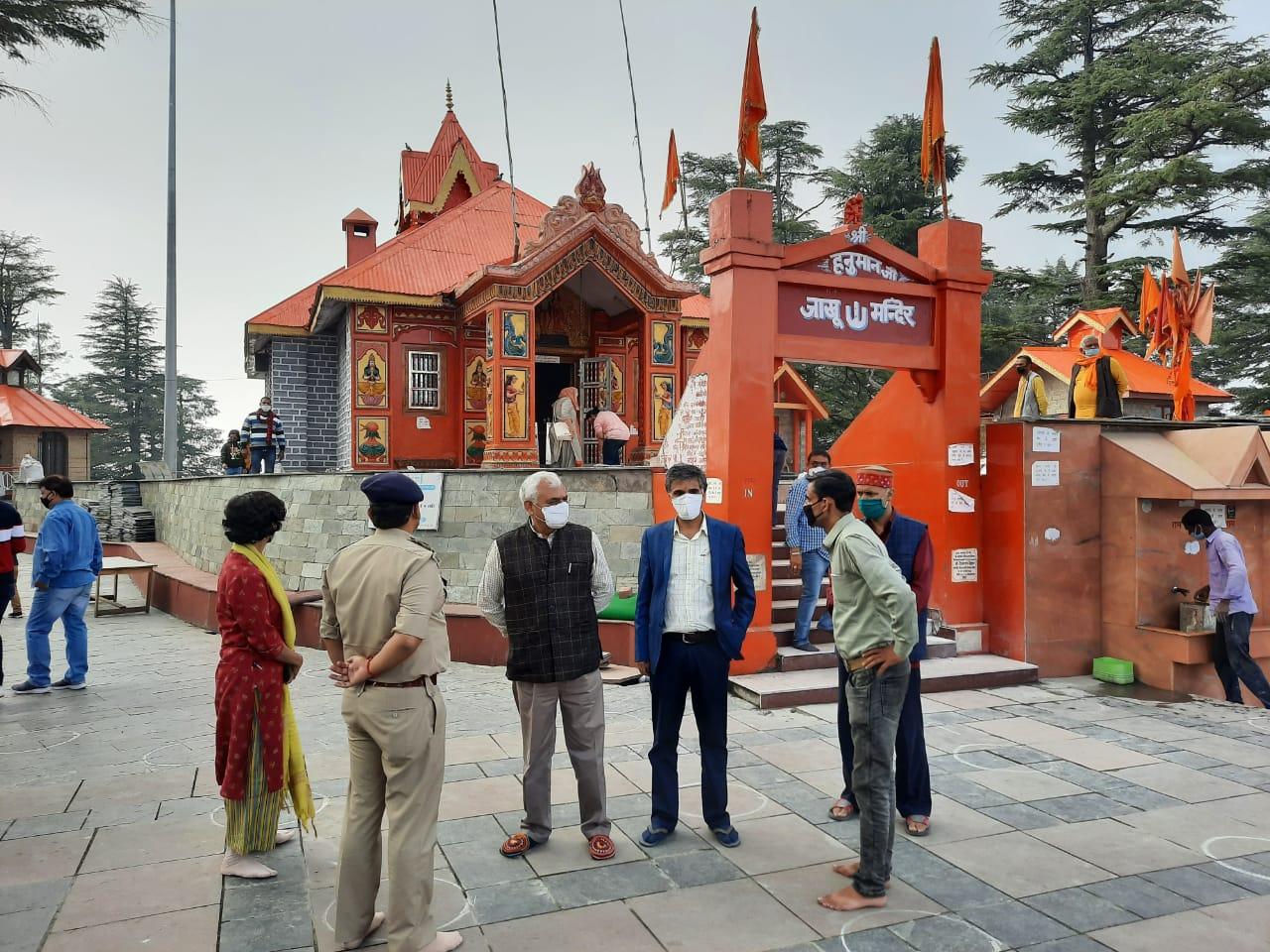 नवरात्र में तारा देवी, संकटमोचन, कालीबाड़ी व जाखू मंदिर में विवाह, मुंडन, हवन, कन्या पूजन व मूर्ति स्पर्श वर्जित