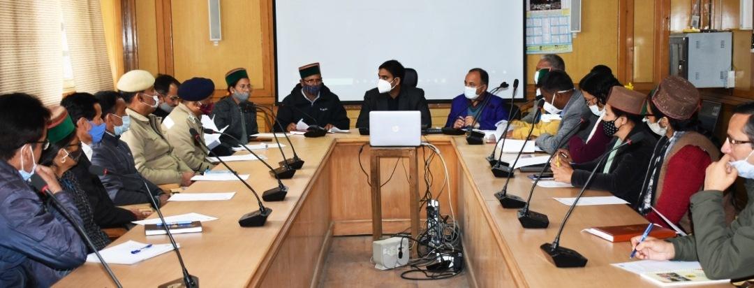 स्वर्णिम हिमाचल रथ यात्रा की तैयारियों को लेकर DC किन्नौर ने की बैठक