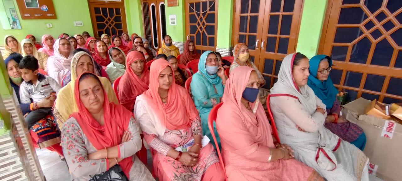 कुठेड़ा में किसानों को बताई सरकारी योजनाएं, बीज और पनीरी बांटी