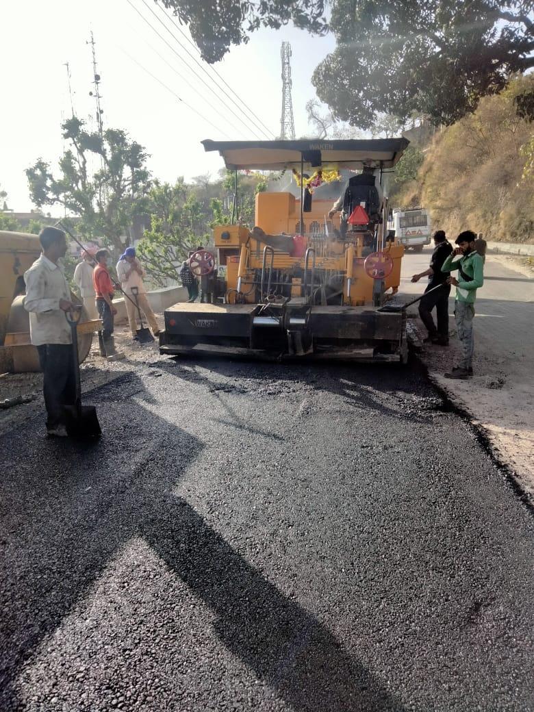 15.5 करोड़ की लागत से निर्माणाधीन भरवाईं-चिन्तपूर्णी-पक्का टिल्ला सड़क परियोजना का कार्य मई माह में होगा पूरा