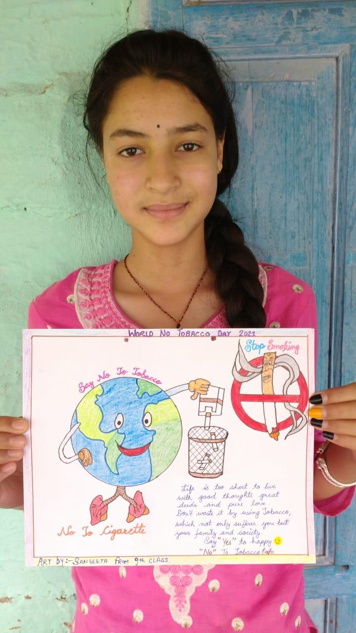 भावानगर स्कूल में ऑनलाइन तंबाकू निषेध दिवस का आयोजन