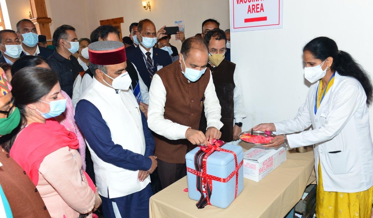 मुख्यमंत्री ने प्रदेश में कोविड-19 प्रतिरक्षा टीकाकरण अभियान का शुभारम्भ किया