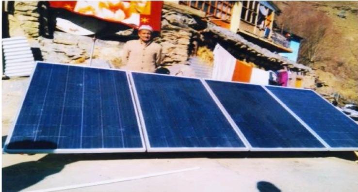 कबाईली क्षेत्र पांगी में लगे ऑफ ग्रिड सोलर पावर प्लांट, 1000 BPL परिवारों को मिली रोशनी