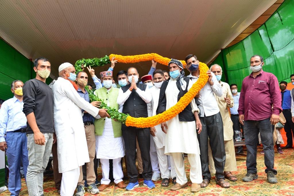 CM ने द्रंग विधानसभा के कटौला में 28.11 करोड़ की परियोजनाओं के किए लोकार्पण व शिलान्यास