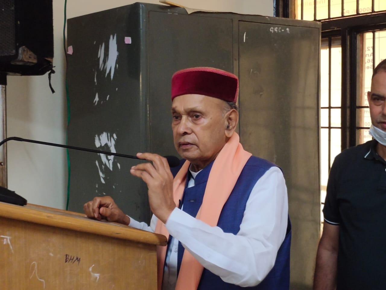 2017 में जो हुआ वो अब इतिहास है उससे लें सबक, फिर से बने भाजपा सरकार ऐसा माहौल खड़ा करें- प्रो धूमल