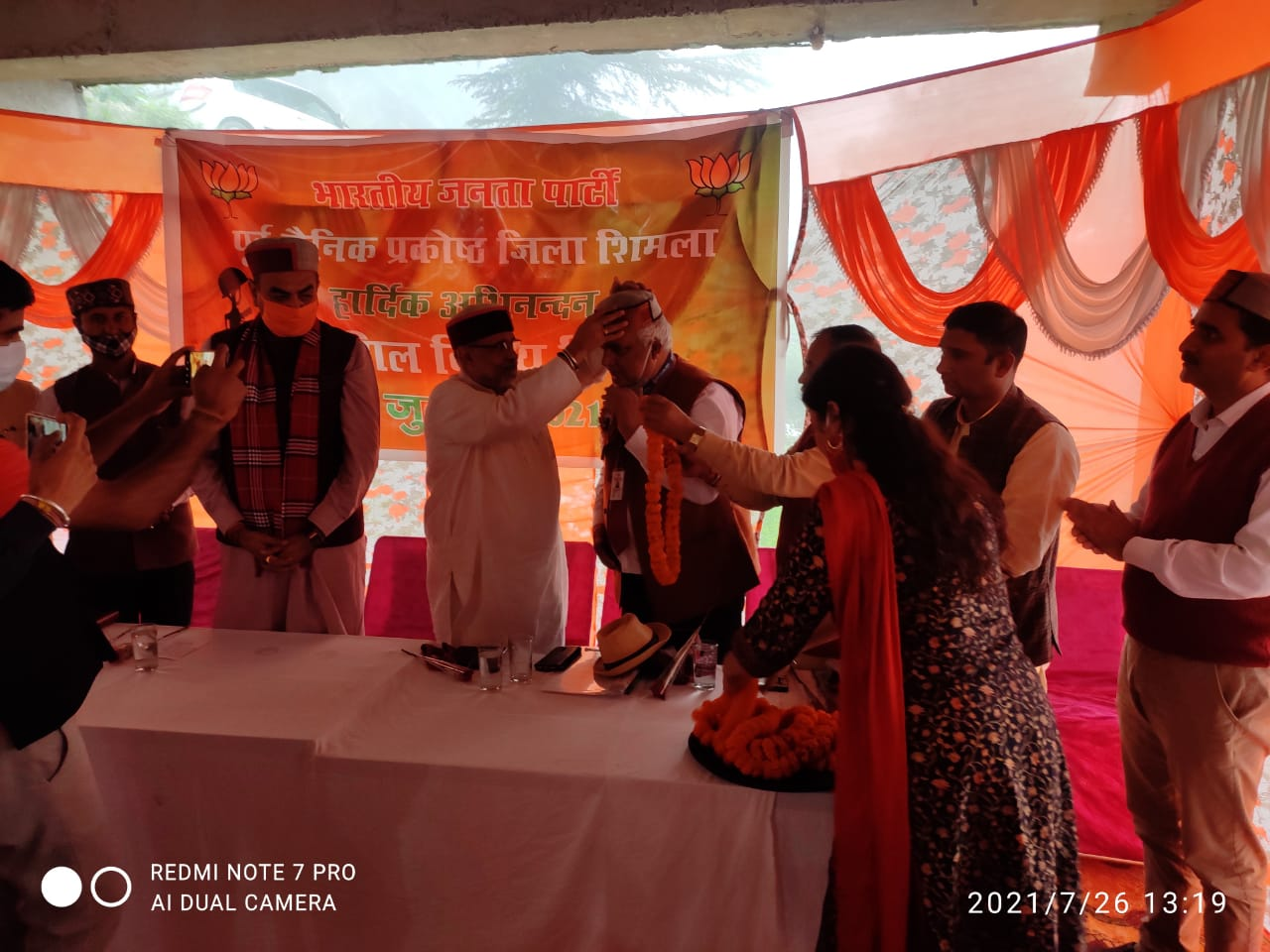 कारगिल विजय दिवस- एक्स सर्विसमैन वेलफेयर एसोसिएशन और वेटरन इंडिया शिमला द्वारा वीरांगनाओं को किया सम्मानित