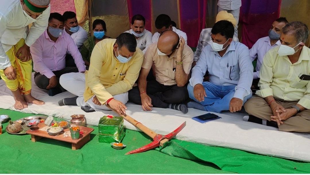 नाचन के गुड़ाहरी में 44 करोड़ से बनेगा अटल आदर्श विद्यालय, MLA विनोद कुमार ने भूमि पूजन कर किया कार्य आरम्भ