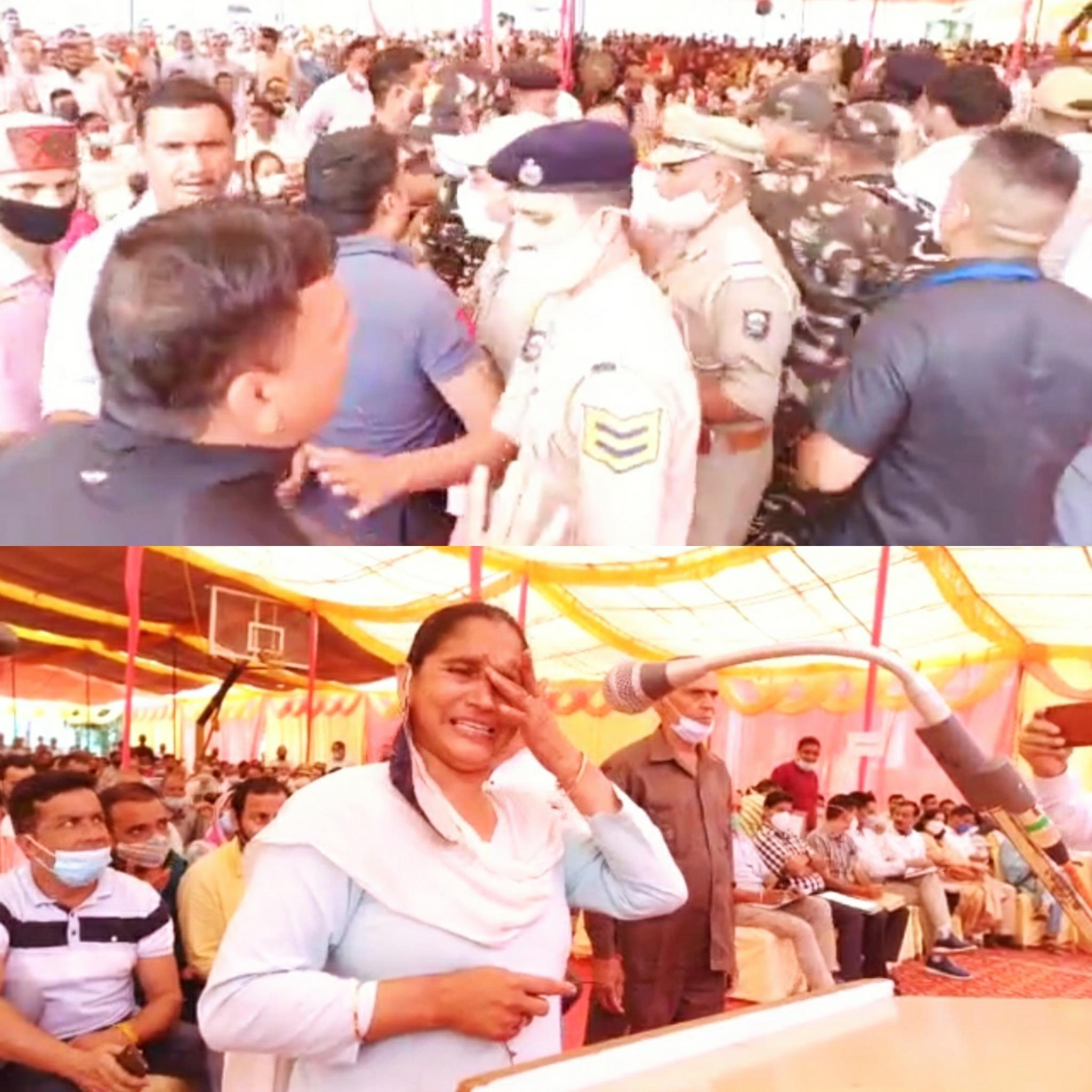 जनमंच में खनन के मुद्दे पर सुखराम के सामने ही भिड़े दो गुट, महिला ने रोते हुए कहा- 15 साल से पानी नहीं, मंत्री बोले अधिकारियों पर एक्शन लो