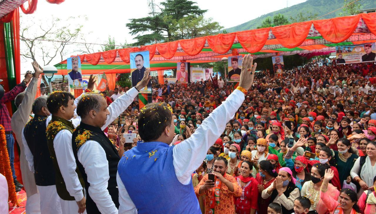 मुख्यमंत्री ने पच्छाद विधानसभा क्षेत्र में किए 315 करोड़ रुपये के लोकार्पण व शिलान्यास