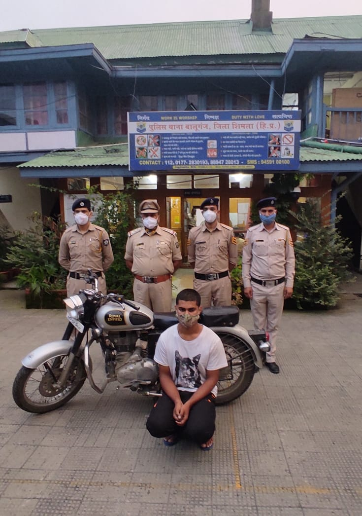 शिमला में राष्ट्रपति जिस होटल में ठहरे उसी के पास से 'बुलेट बाईक' चोरी मामले में कुल्लू का युवक रामपुर से गिरफ्तार