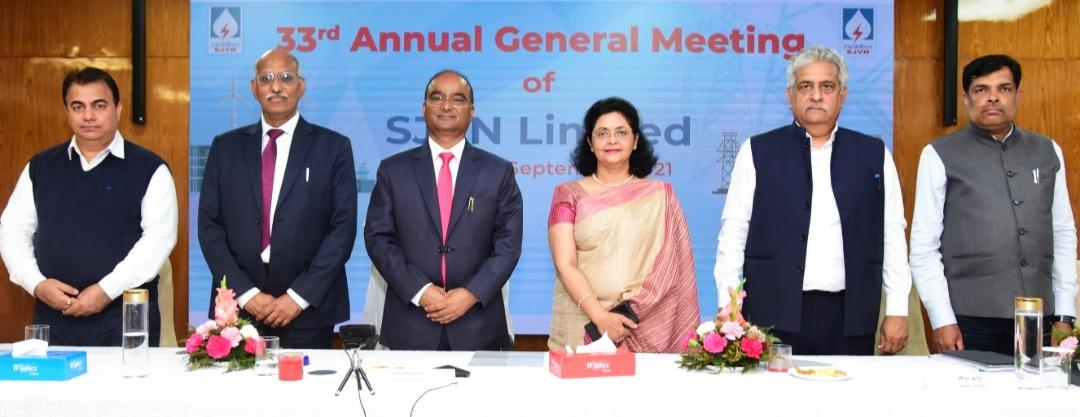 SJVNL ने 2020-21 में अब तक का सर्वाधिक 2168.67 करोड़ रुपए का कर पूर्व लाभ अर्जित किया