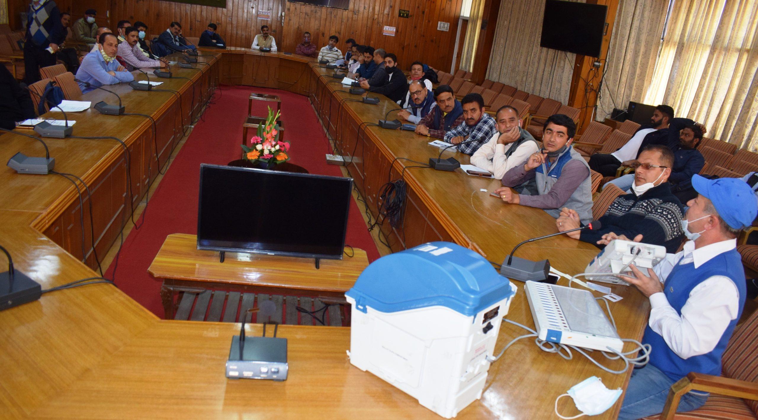 जुब्बल कोटखाई और रामपुर बुशहर विधानभा क्षेत्र में हुआ आब्जर्बर का दूसरा पूर्वाभ्यास