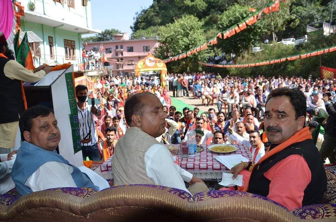 दाड़लाघाट में बोले जयराम- कांग्रेस को हिमाचल के नेताओं पर भरोसा नहीं, बाहर से बुला रहे प्रचारक